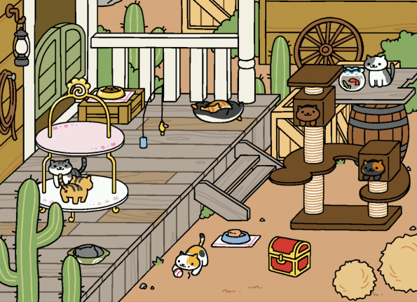 Screenshot from Neko Atsume
