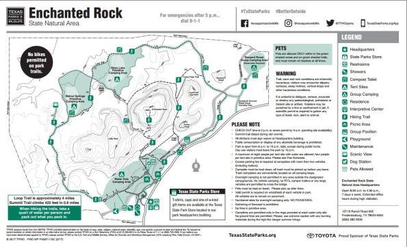 Map of Enchanted Rock