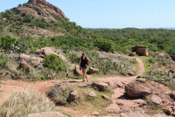 Standing on the Trail at Enchanted Rock