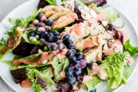 Antioxidant Chicken Salad with Sweet Strawberry Dressing
