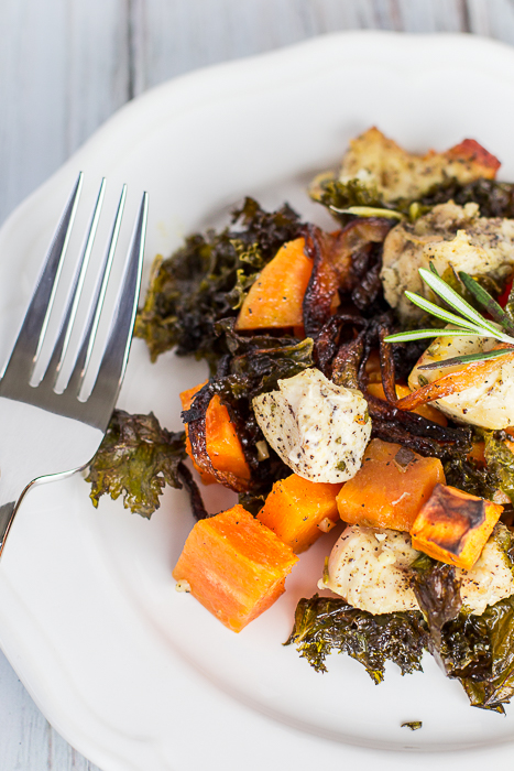 Chicken Kale Sweet Potato Bake
