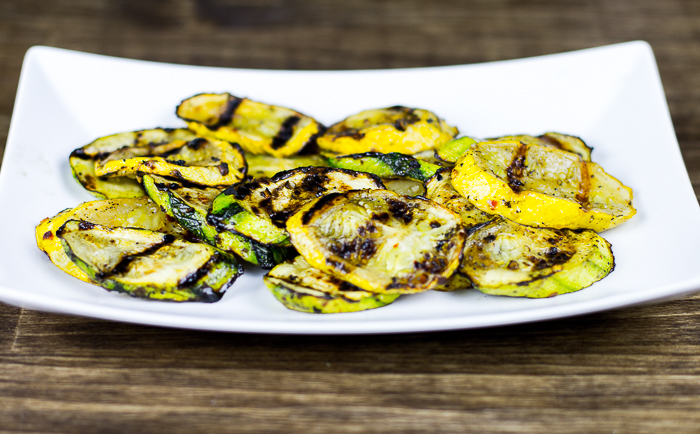 Paleo Spicy Grilled Summer Squash