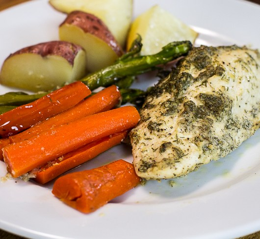 Paleo One Pan Dill Chicken and Veggies