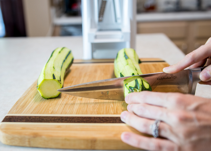 Prepping Zucchini for the Spiralizer