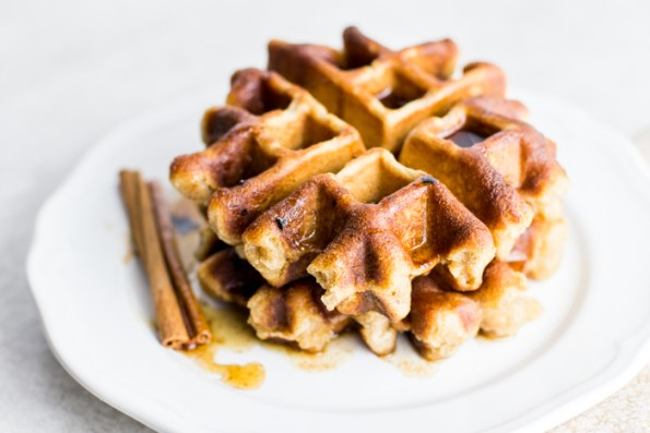 Banana Bread Waffles with Maple Cinnamon Butter
