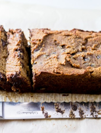 Paleo Dark Chocolate Chip Pumpkin Bread
