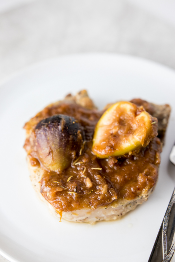 Pork Chops with Fig Sauce