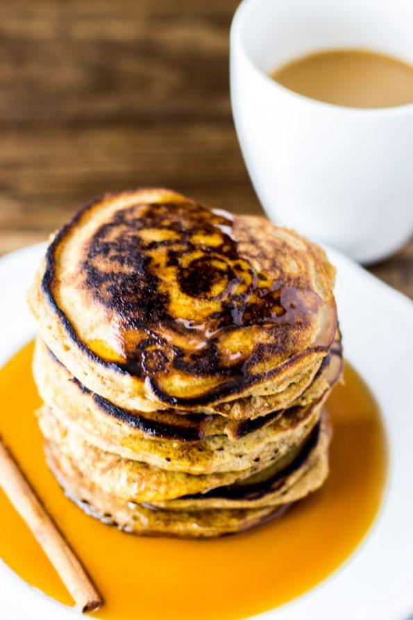 Gluten Free Maple Butternut Squash Pancakes
