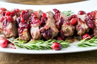 balsamic cranberry rosemary pork tenderloin sliced