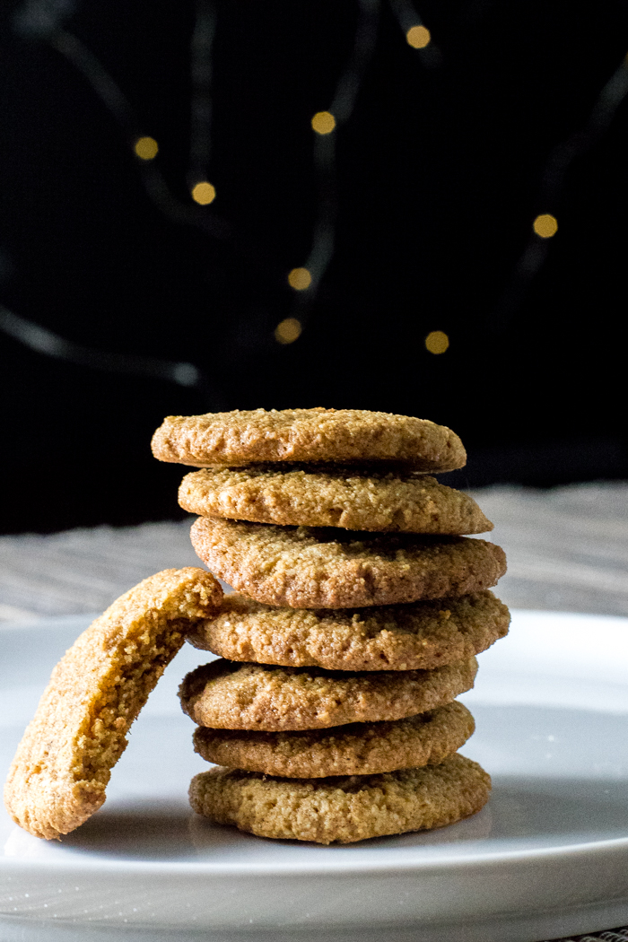 stack of paleo ginger spice cookies