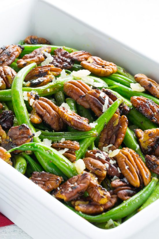 Sautéed Green Beans with Curried Pecans