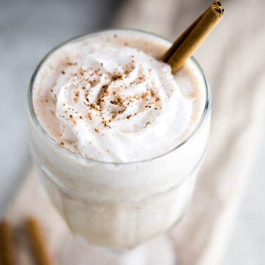 Keto Cinnamon Roll Collagen Shake from above