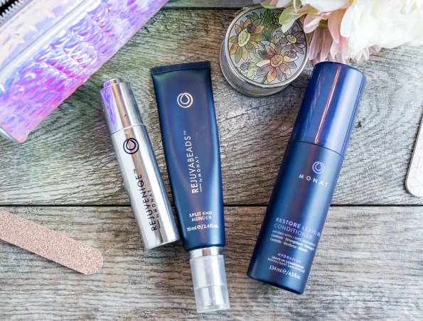 Rejuveniqw, Rejuvabeads and Restore Leave-in by Monat