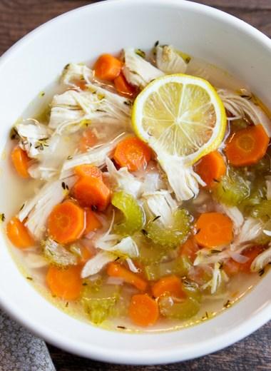 Whole 30 Instant Pot Chicken Vegetable soup