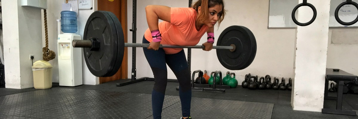 Bent over barbell rowing