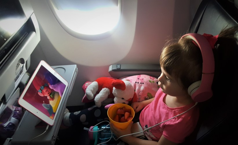 flying with toddlers watching movies
