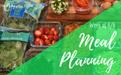 Meal planning for the week – 8/6