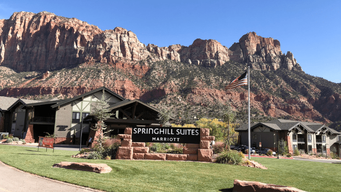 Where to Stay on a Family Trip to Zion National Park, UT: Springhill Suites Review