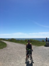 cyclists on leslie spit