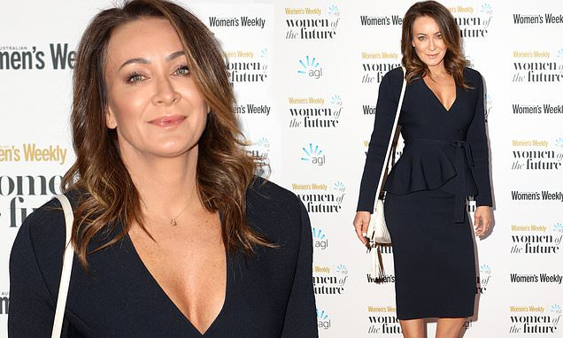 Michelle Bridges reveals a glimpse of cleavage at Women of the Future Awards in Sydney