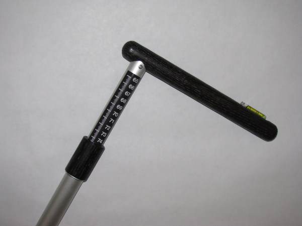 seat height measuring tool - ebony