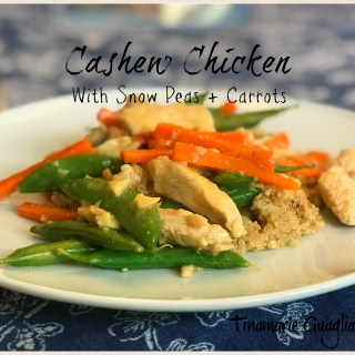 Cashew Chicken with Snowpeas + Carrots