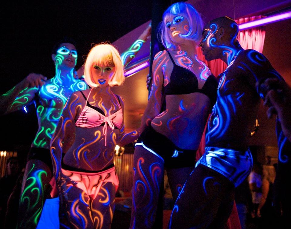 Festa fluo - Vernice fluorescente per il corpo