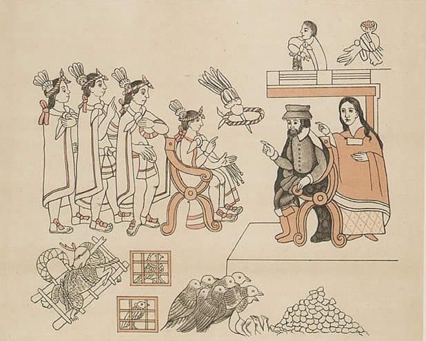Cioccolato - L'incontro tra Hernán Cortés e l'imperatore Montezuma