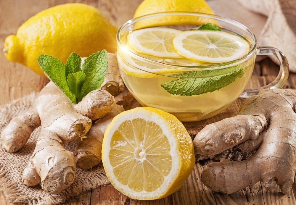 tè al bruciatore di grassi allo zenzero limone