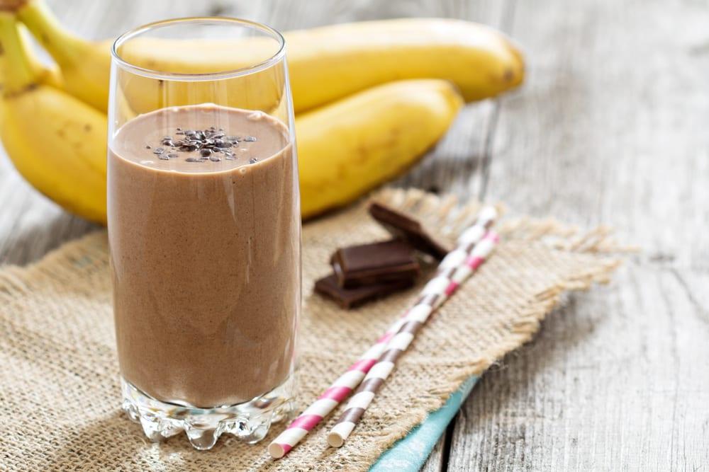Frullato di banane e cacao