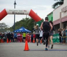 runner finishing a race