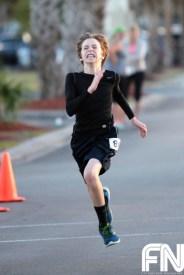 boy running hard