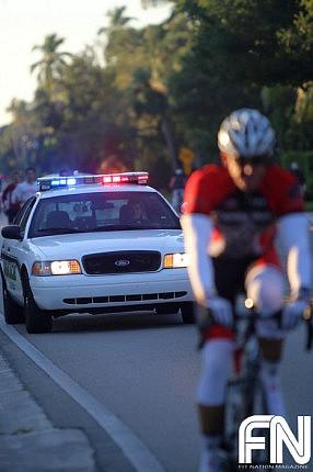 police car race escort