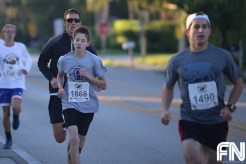 White males running together