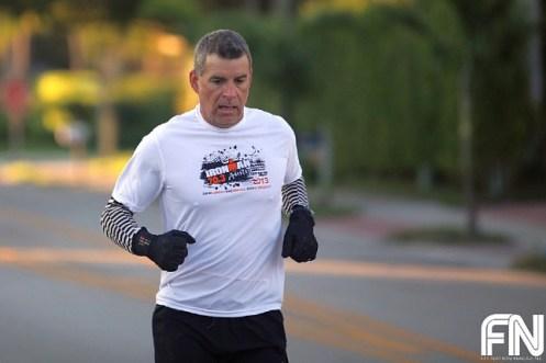 man white shirt running