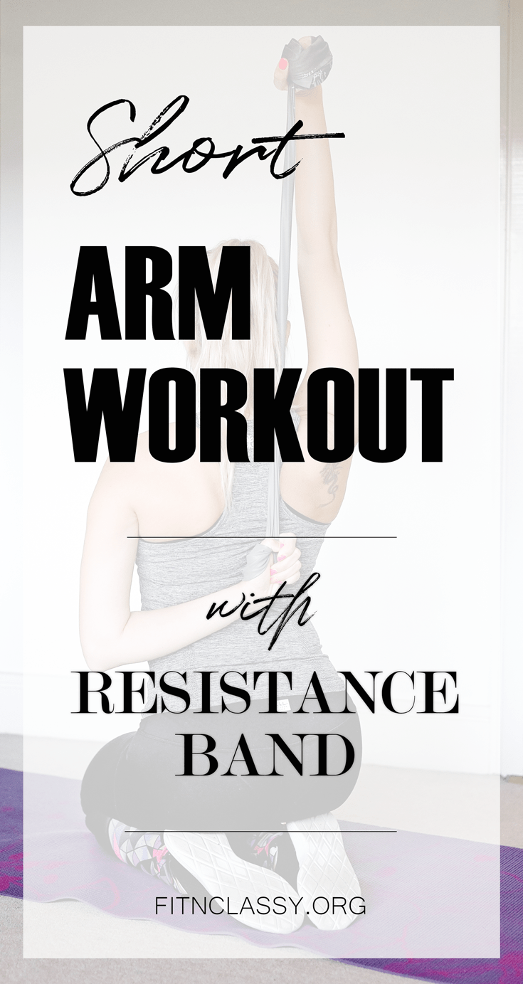 Short Arm Workout With Resistance Band