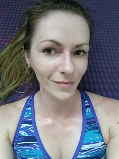 Sweaty face