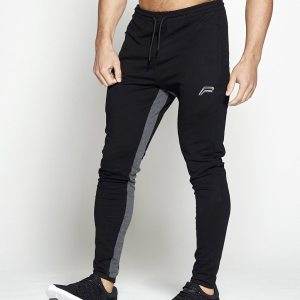 Fitness Broek Pro-Fit Tapered Zwart Grijs - Pursue Fitness