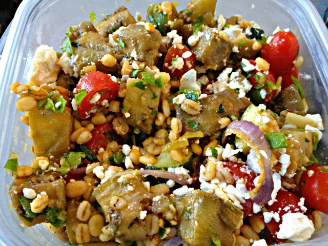 Mediterranean eggplant salad