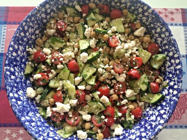 Almost Mediterranean Chickpea Salad