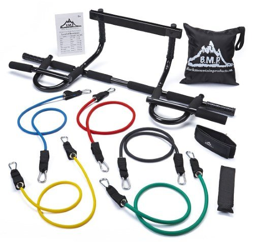 Black Mountain pull up bar and resistance bands