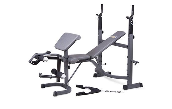 Body Champ Olympic Weight Bench with Preacher Curl and Leg Developer