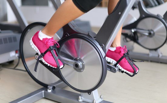 stationary bike pedals with straps
