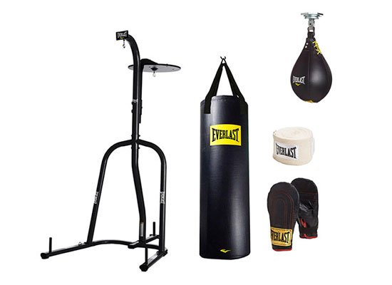 Everlast Dual Station Heavy Bag Stand Value Bundle