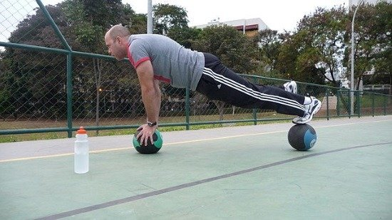 man showing his strong core