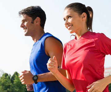 Couple With Good Health High Intensity Interval Training