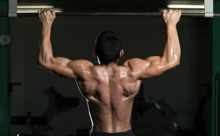 Fit Man Doing Pull Ups Power Tower For Fitness
