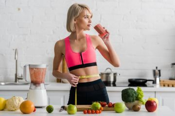 Woman having healthy smoothie