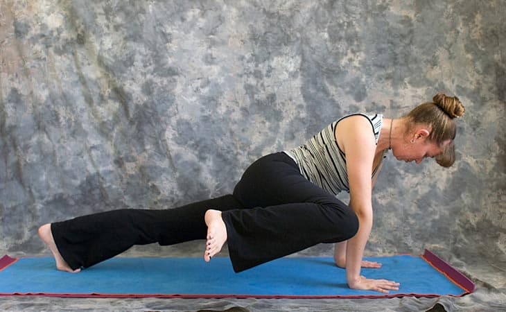 Woman Showing How To Plank