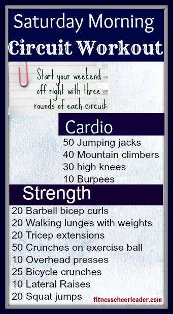 Let's Flex those MUSCLES! Saturday Workout